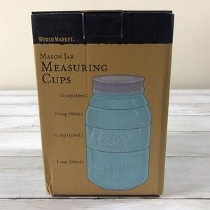 Cost Plus World Market Kitchen - Mason jar ceramic measuring cups and spoons 201-M